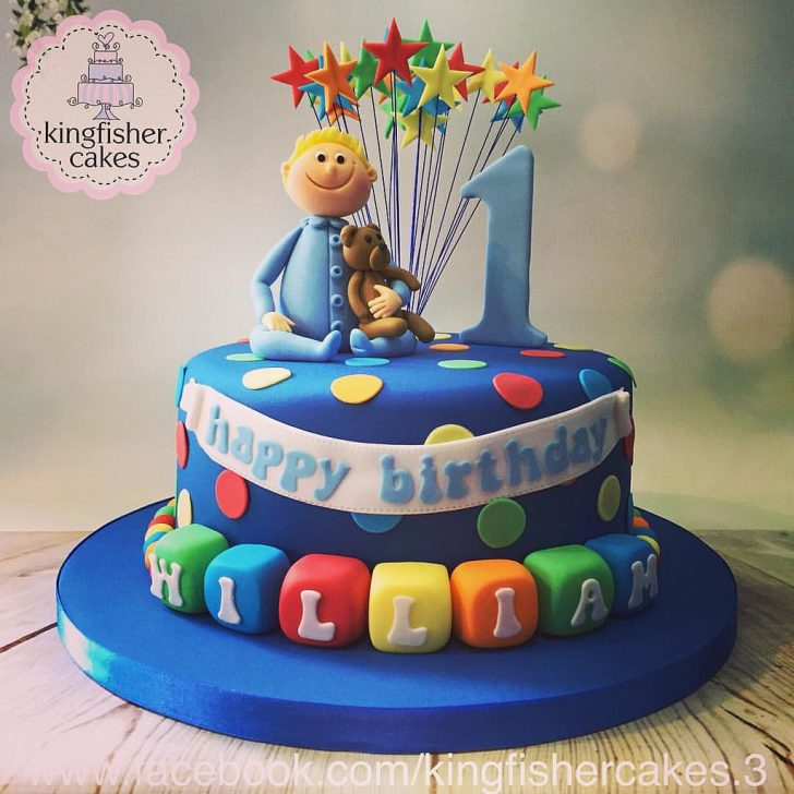 Little Boy Birthday Cakes Another Cake From The Weekend A Little Boys 1st Birthday Flickr