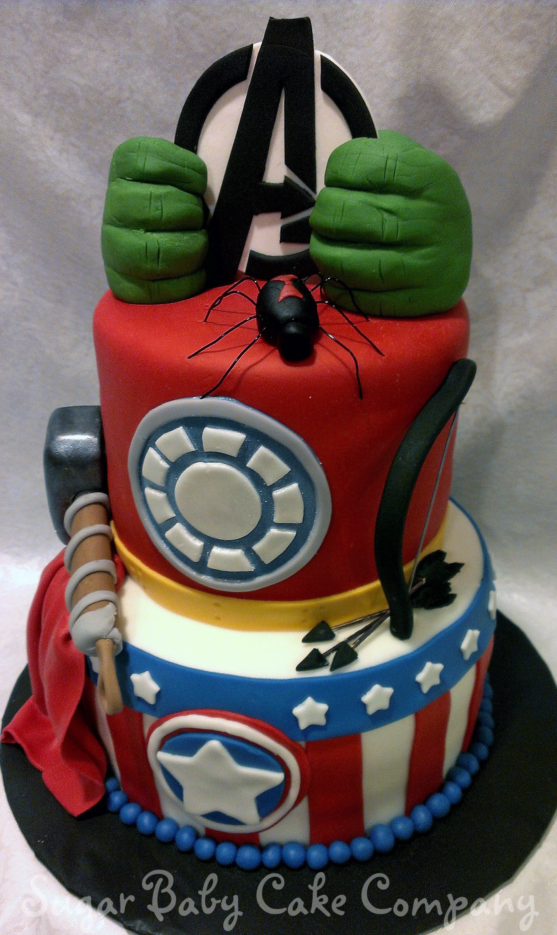 Little Boy Birthday Cakes Avengers Cake An I Made For A 4 Year Old
