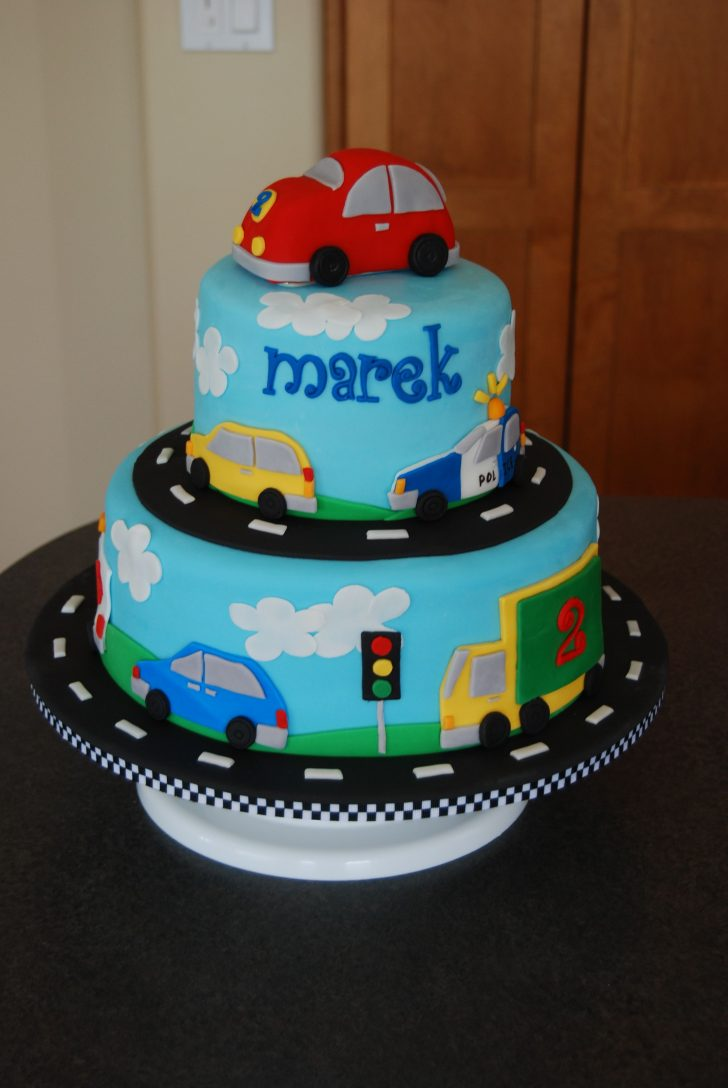 Little Boy Birthday Cakes Vehicles Birthday Cake Made For A Little Boy Who Loves Anything