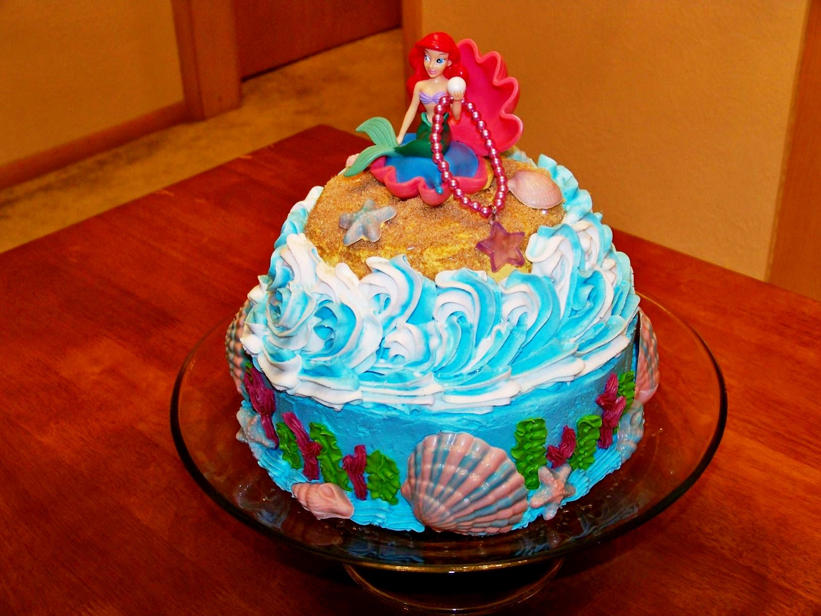 1600 X 1200 In 32 Best Image Of Little Mermaid Birthday Cake Walmart