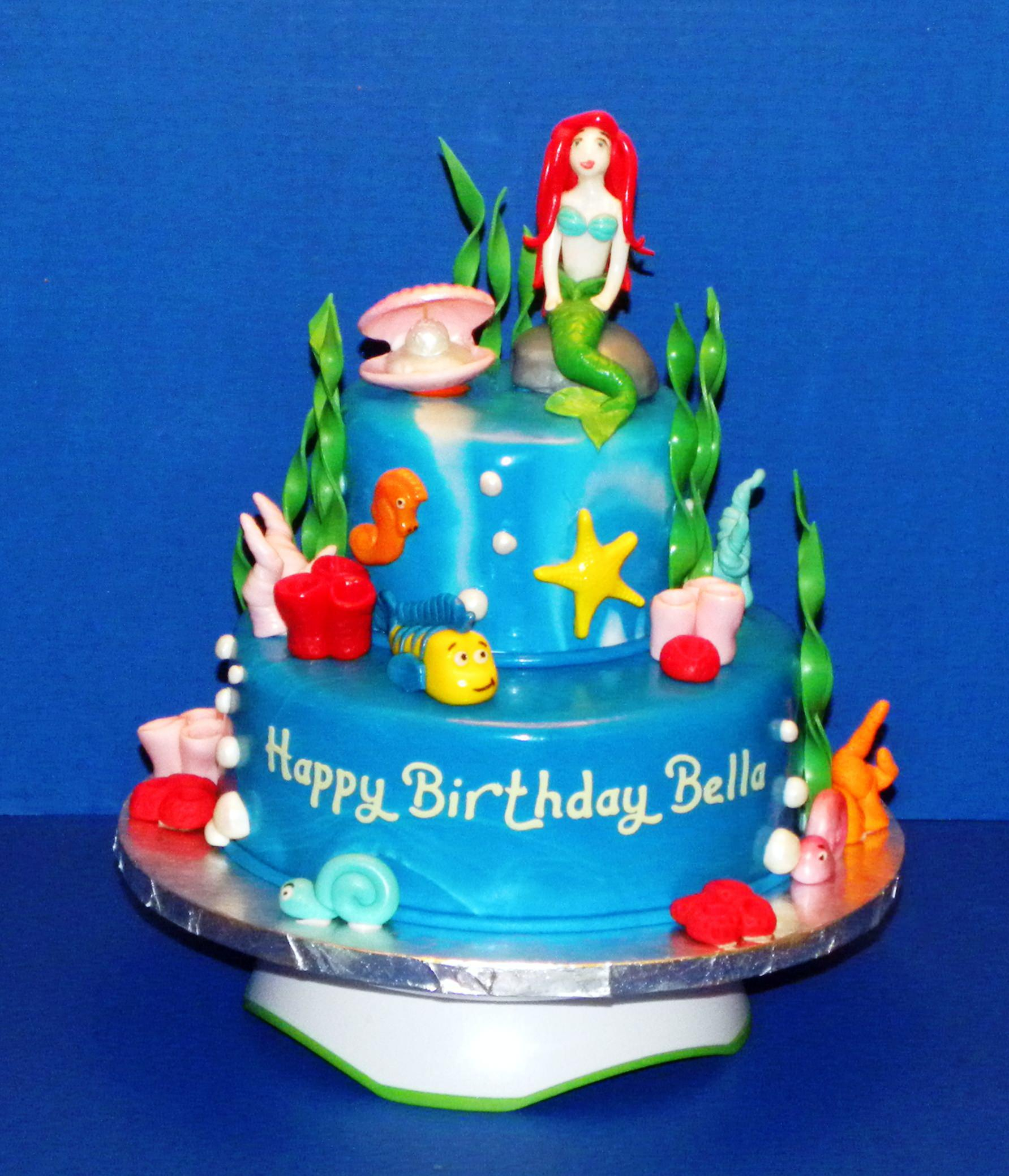 Little Mermaid Birthday Cake Walmart Ariel Protoblogr Design