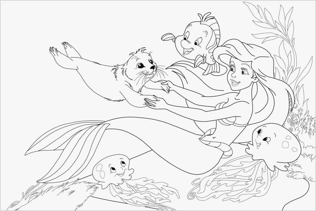 Little Mermaid Coloring Pages Free Collection Of 48 Free Little Mermaid Coloring Pages