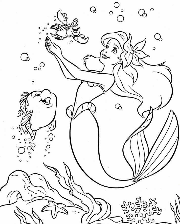 Little Mermaid Coloring Pages Little Mermaid Coloring Page Bitslice