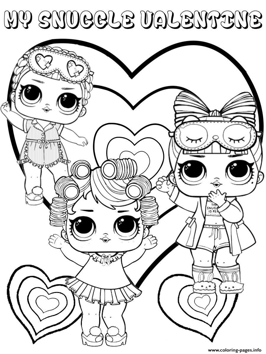 Lol Coloring Pages Snuggle Valentine Lol Dolls Kids Coloring Pages Printable
