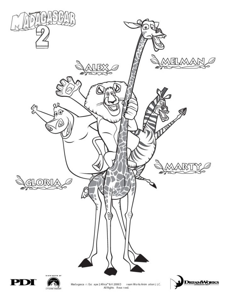 Madagascar Coloring Pages Madagascar For Kids Madagascar Kids Coloring Pages
