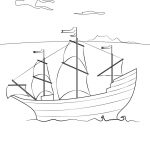 Mayflower Coloring Page The Mayflower Ship Coloring Pages Hellokids