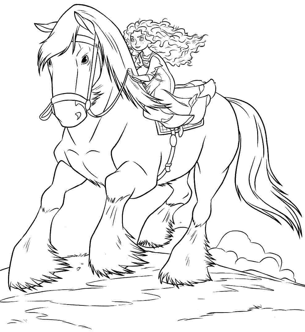 Merida Coloring Pages Brave Coloring Pages Brave Coloring Pages Merida Riding Angus