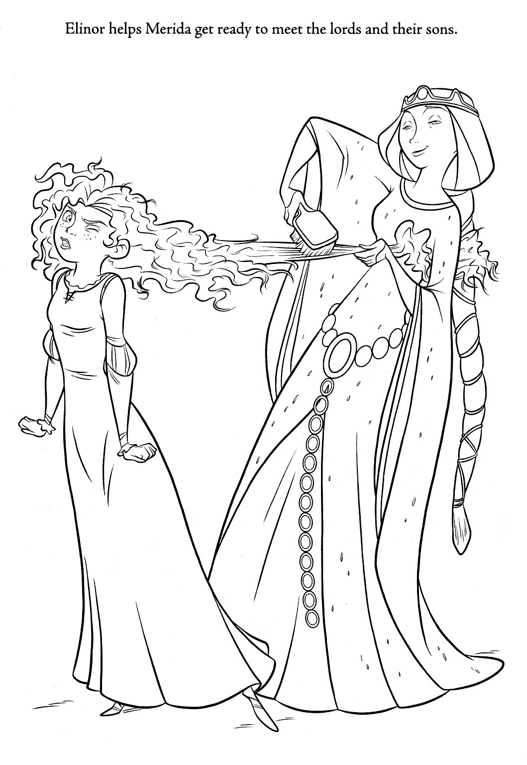 Merida Coloring Pages Brave Coloring Pages For Kids Printable Coloring Page For Kids