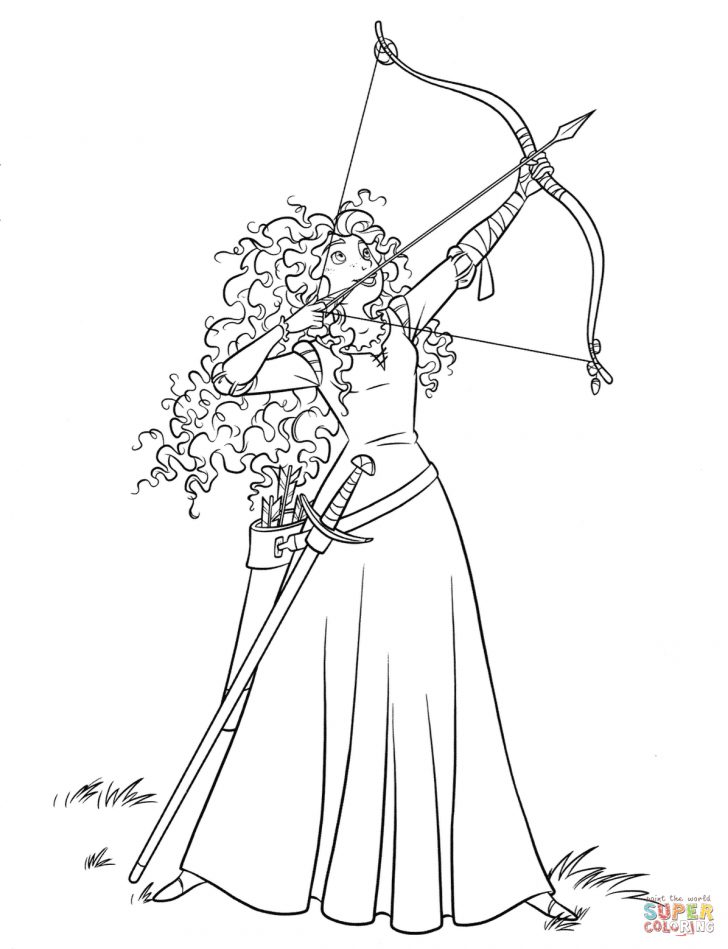 Merida Coloring Pages Brave Coloring Pages Free Coloring Pages