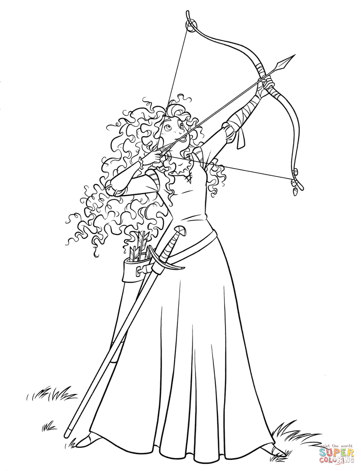 Creative Image of Merida Coloring Pages