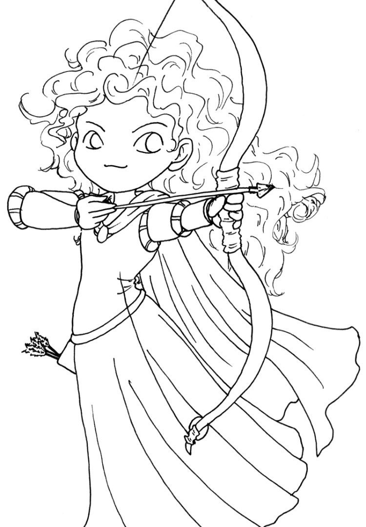 Merida Coloring Pages Brave Coloring Pages Free Disney Movie Little Toaster Pixar