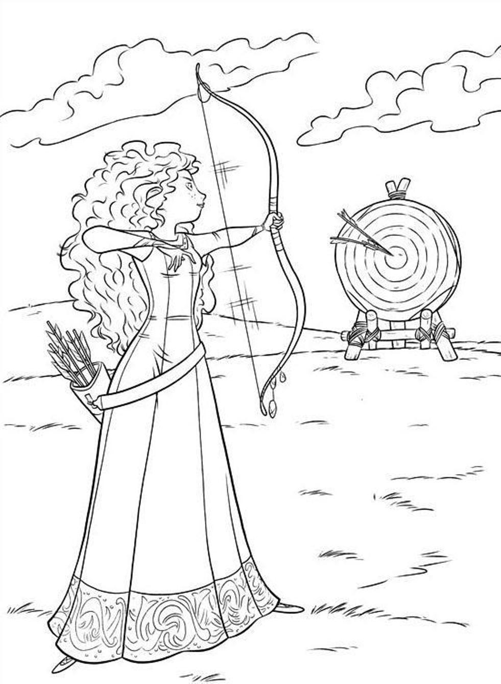 Merida Coloring Pages Brave Coloring Pages Merida Cartoon Coloring Pages Of