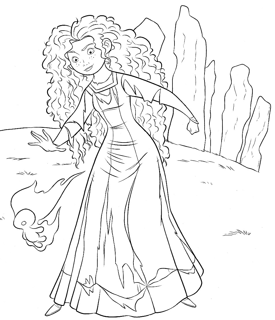 Merida Coloring Pages Brave Coloring Pages Princess Merida For Kids Disney 9521109