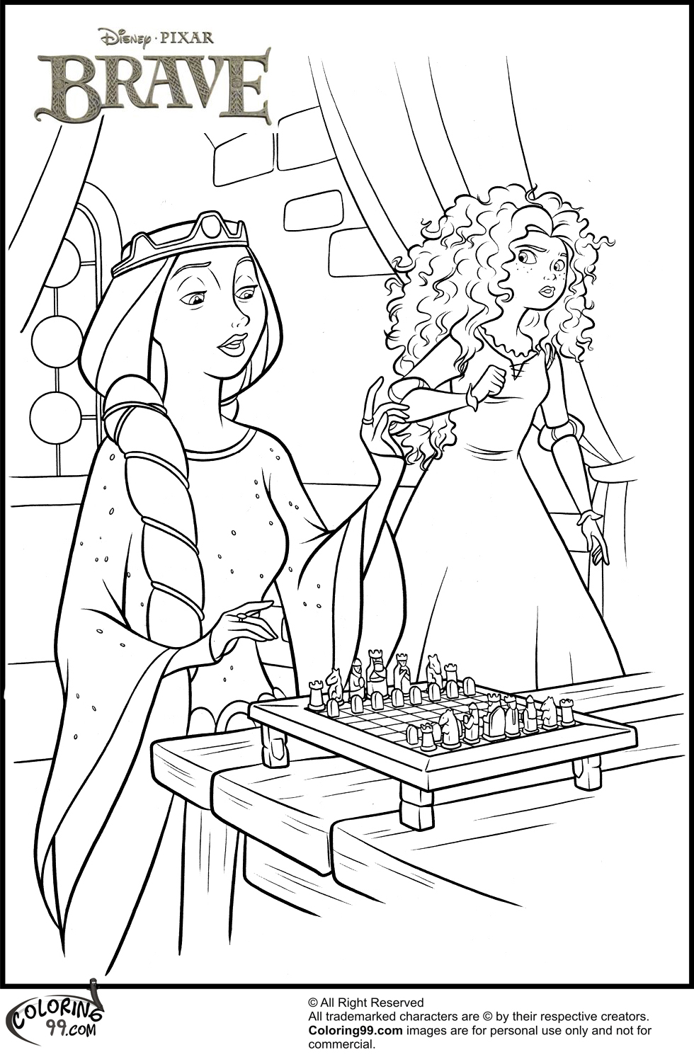 Merida Coloring Pages Disney Princess Merida Coloring Pages Team Colors
