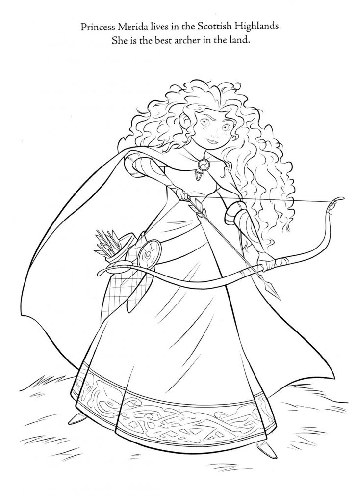 Merida Coloring Pages Princess Merida Coloring Pages At Getdrawings Free For