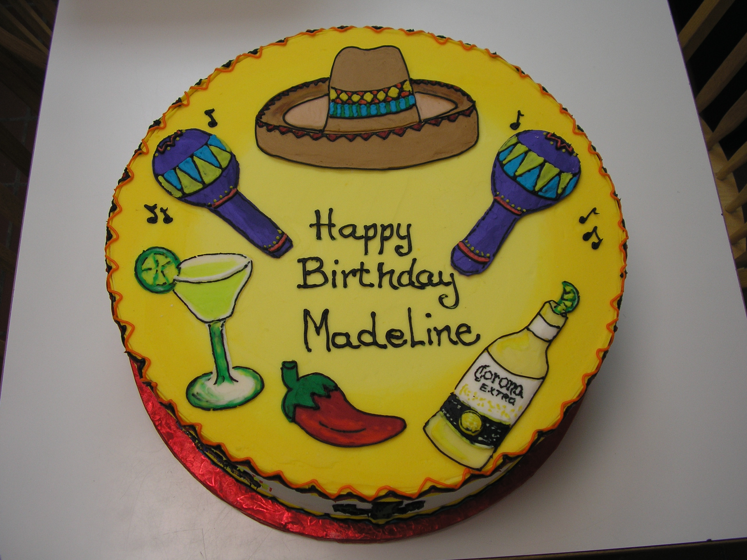 Mexican Birthday Cake Adult Birthdays