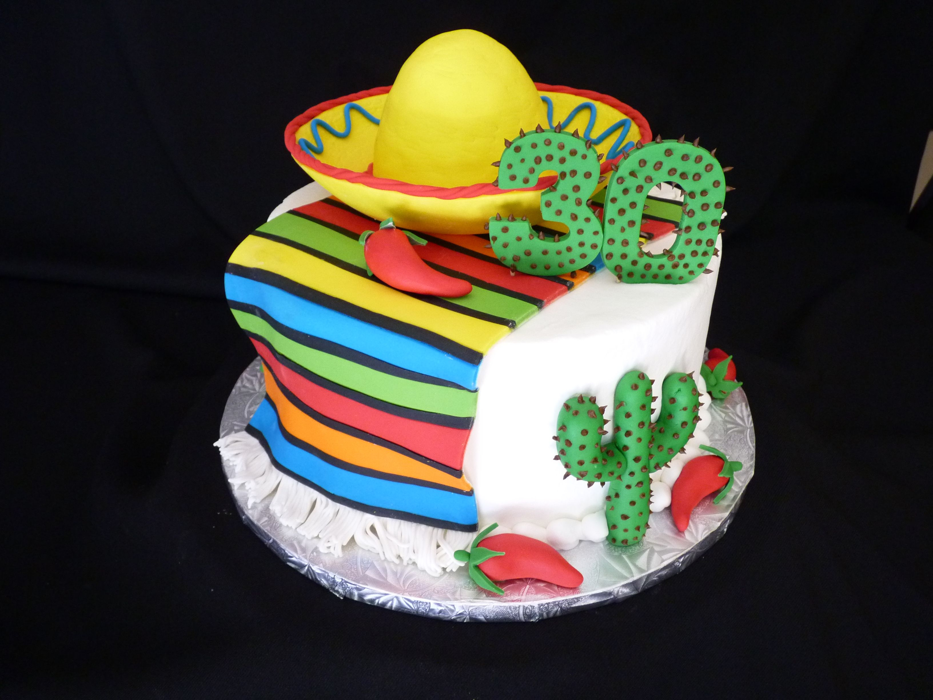 Mexican Birthday Cake Fiesta Birthday Cake Mexican Fiesta 30th Bday Fun Cakes In 2018
