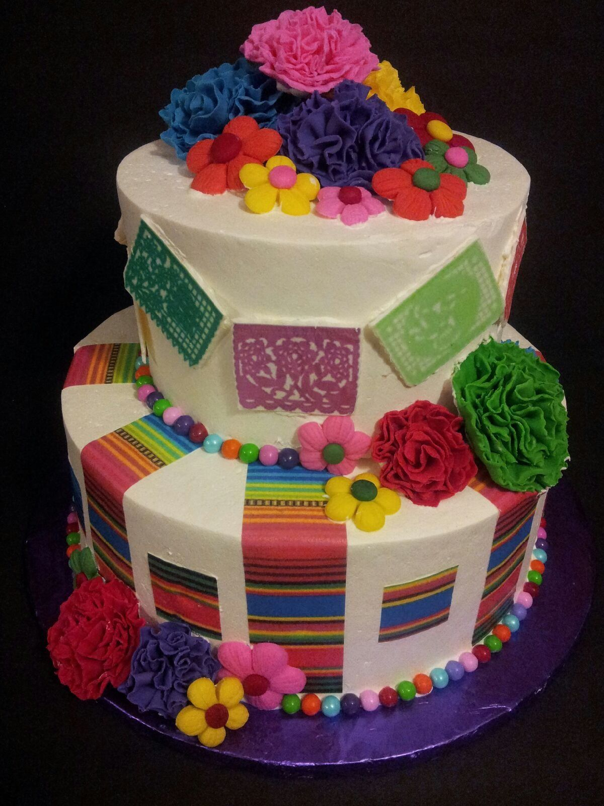 Mexican Birthday Cake Fiesta Cake On Cake Central 60th Birthday Party Ideas In 2018