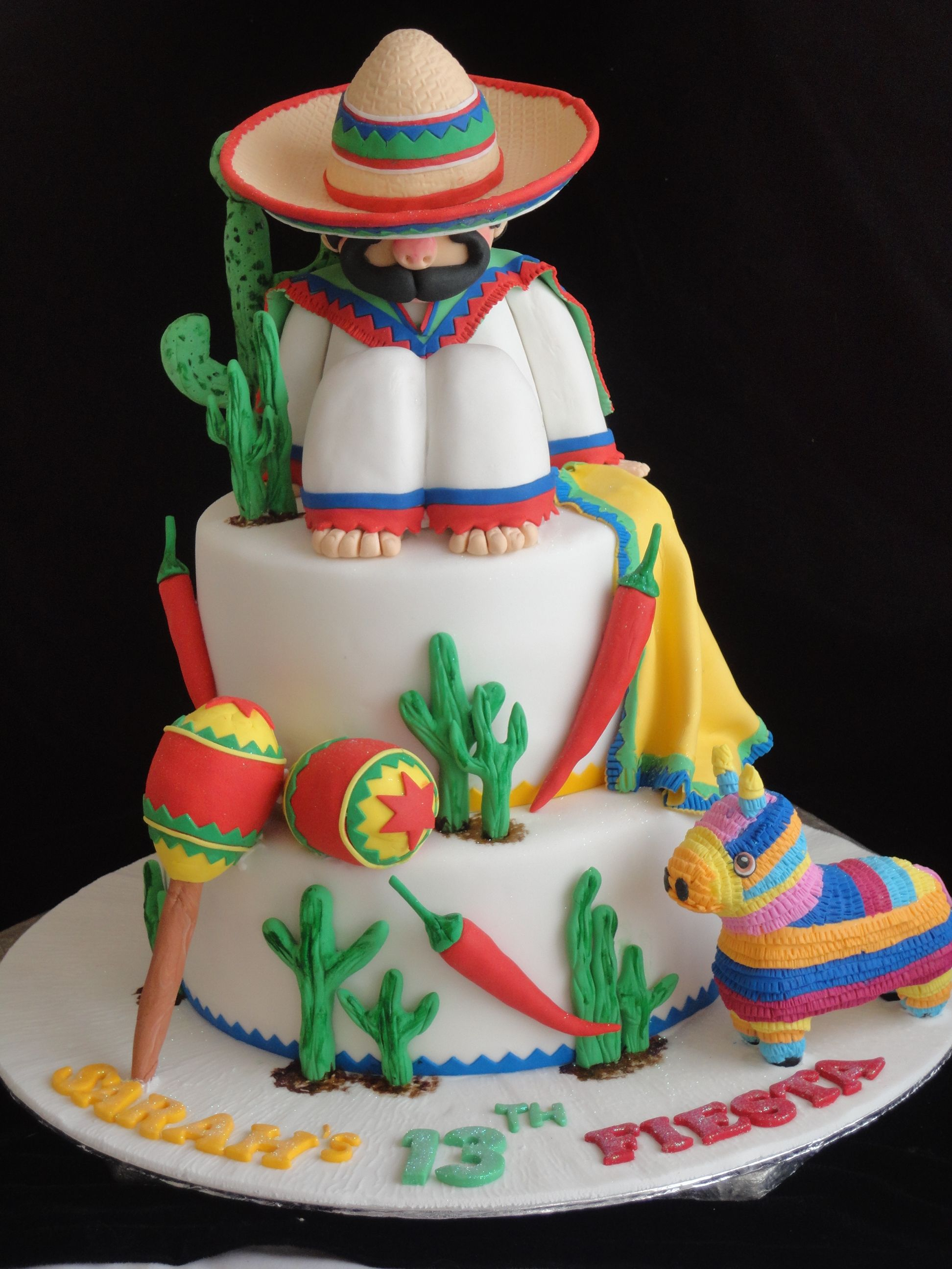Mexican Birthday Cake Mexican Theme Cake Cinco De Mayo Fiesta Entertaining Pinterest