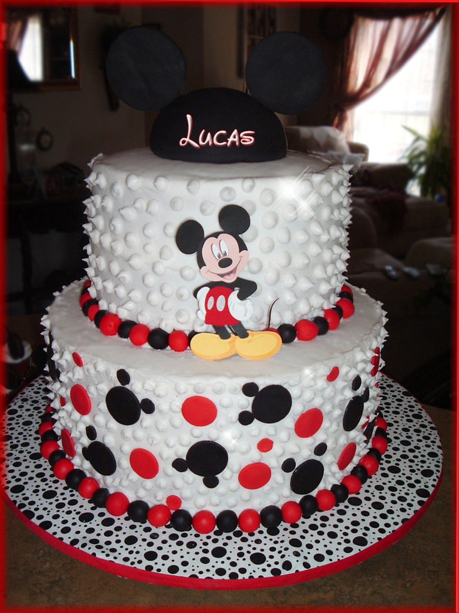 Mickey Mouse Birthday Cake Mickey Mouse Birthday Cake Cakecentral
