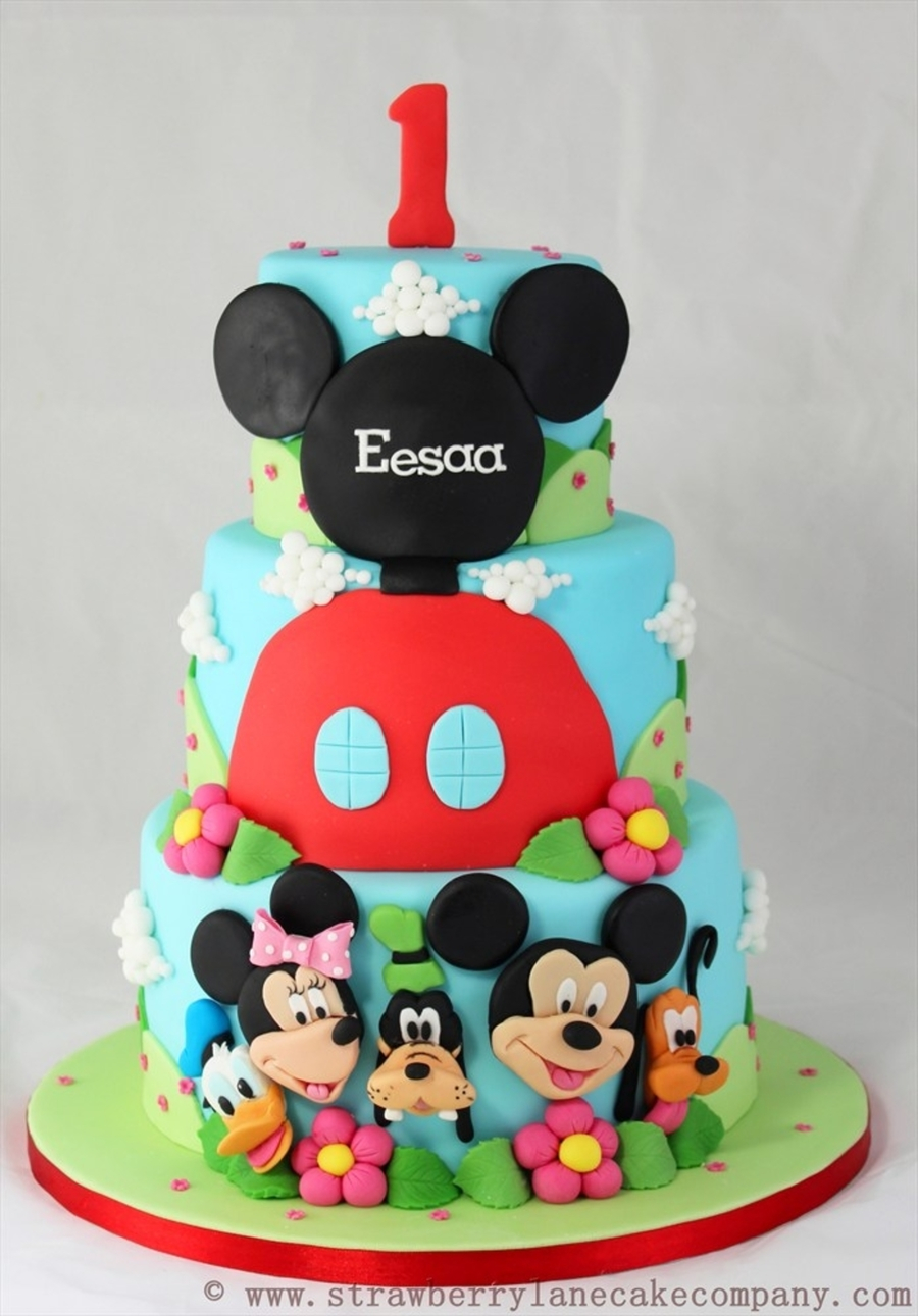 Mickey Mouse Birthday Cake Mickey Mouse Club House And Friends 1st Birthday Cake Cakecentral
