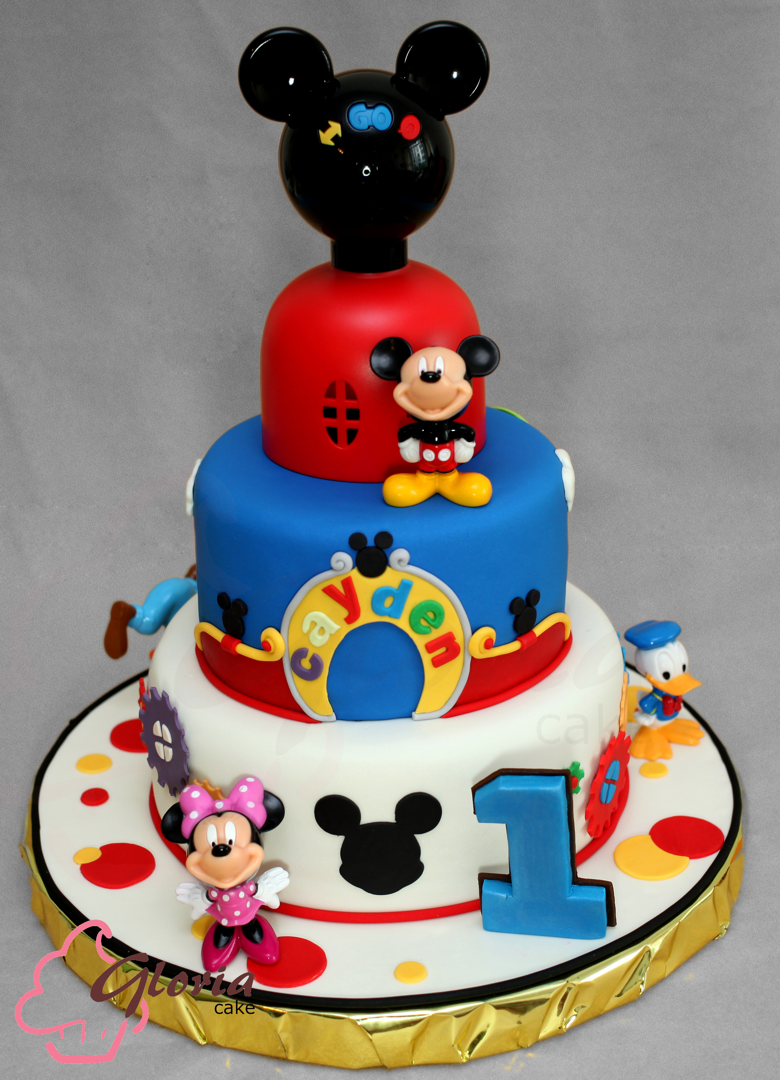 Mickey Mouse Birthday Cake Mickey Mouse Clubhouse Gloria Cake
