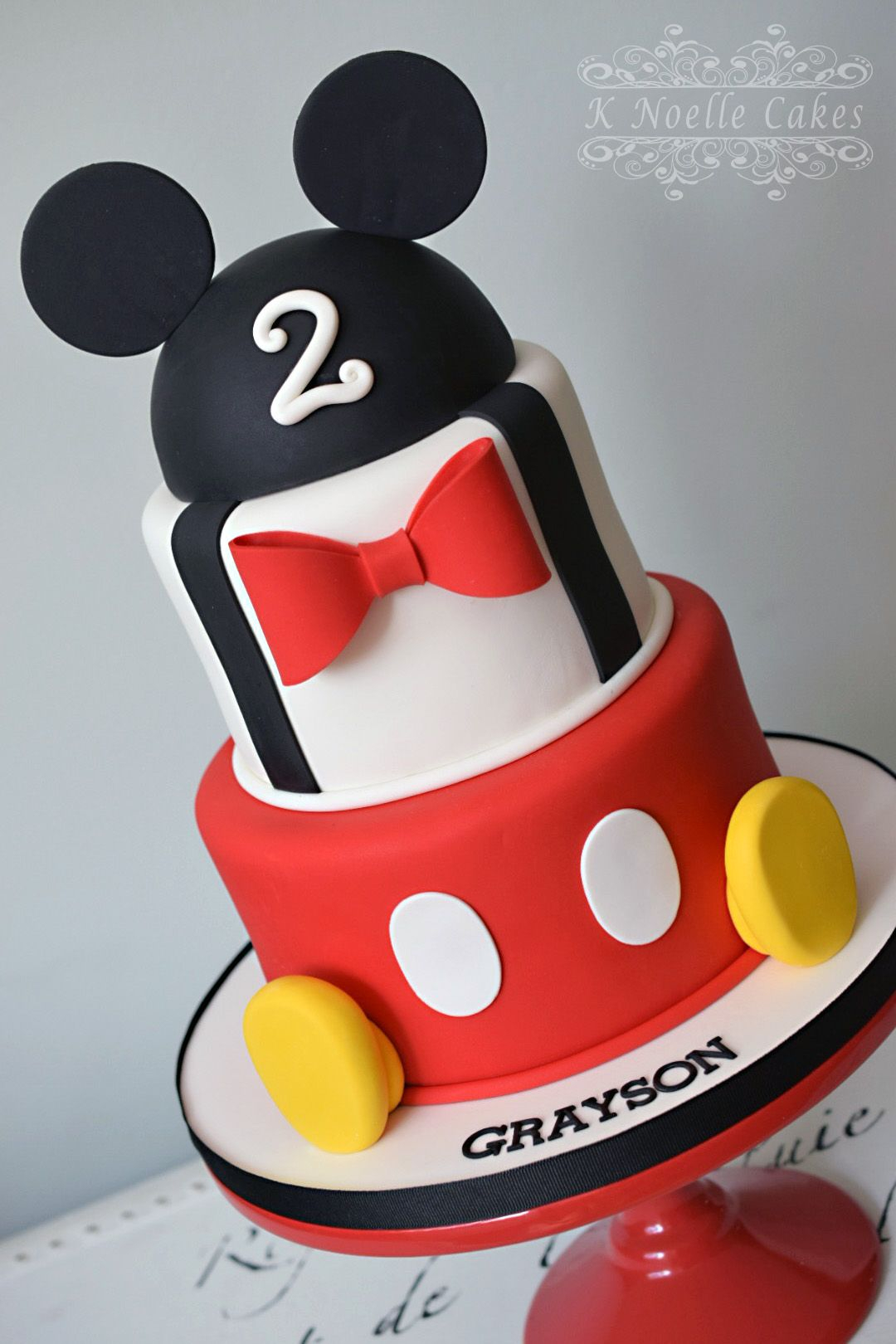 Mickey Mouse Birthday Cake Mickey Mouse Themed Cake K Noelle Cakes Disneys Mickeyminnie