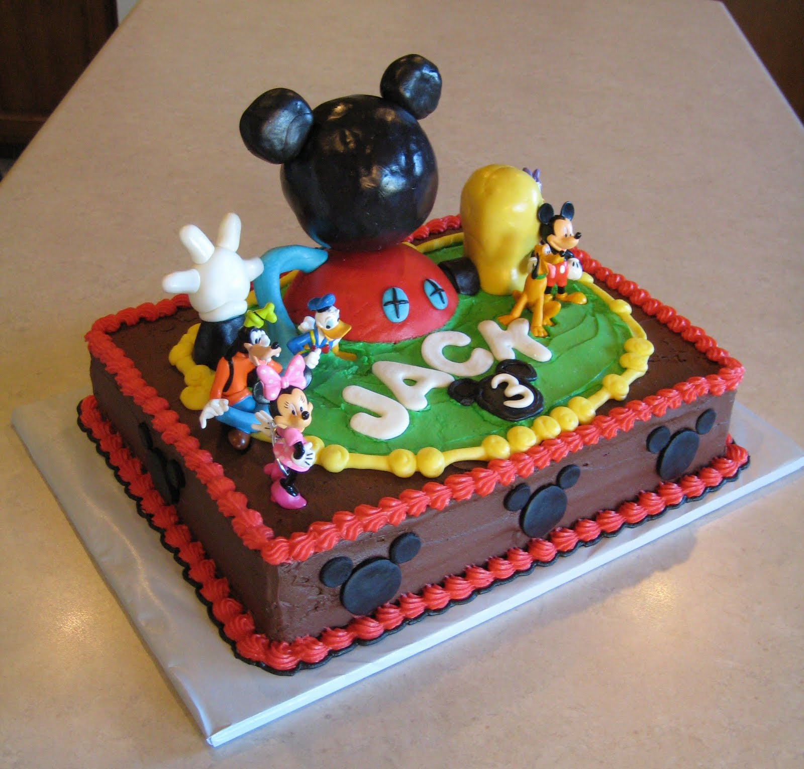 Mickey Mouse Birthday Cakes Mickey Mouse Birthday Cakes For Boys Classic Style