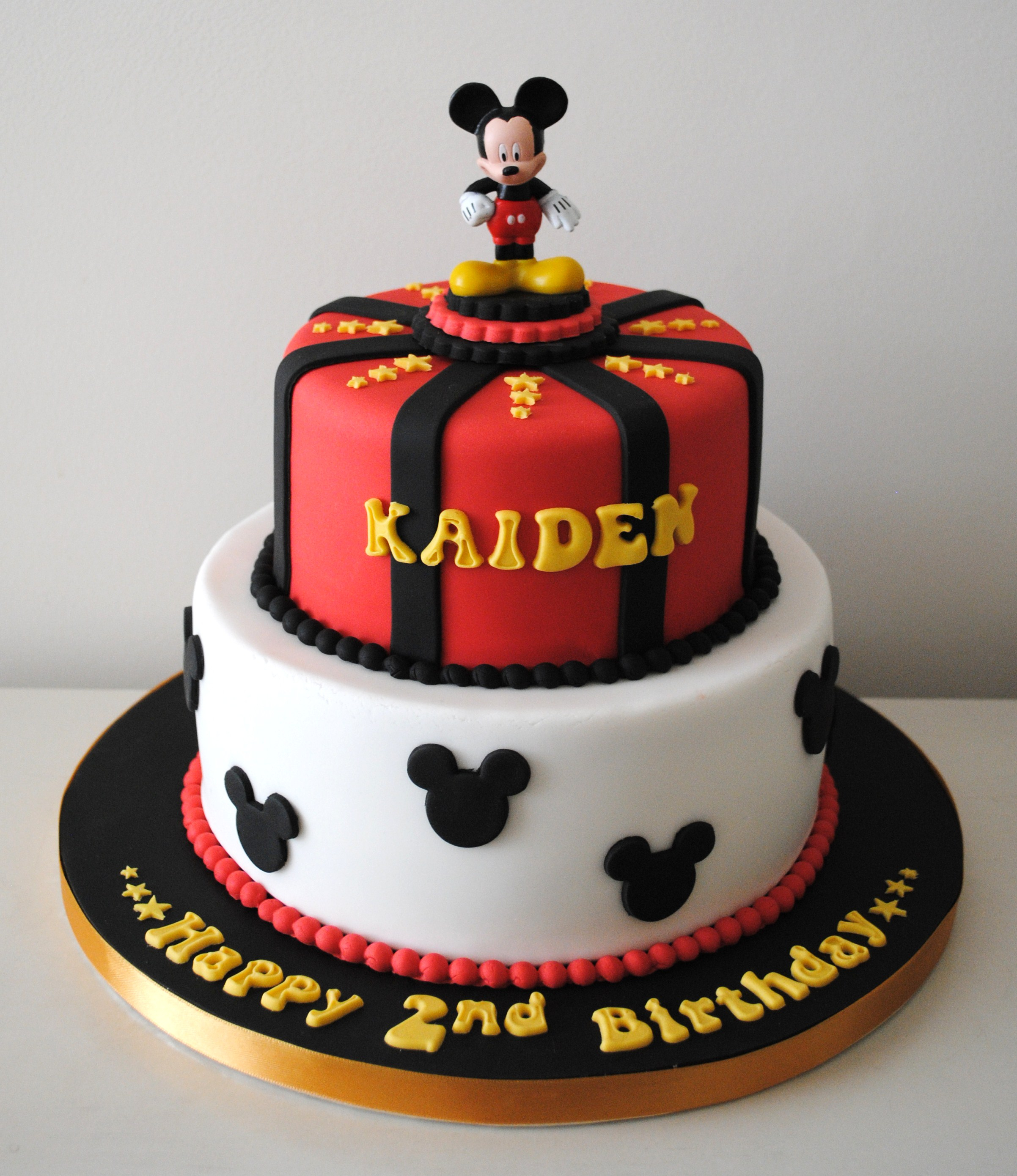 Mickey Mouse Birthday Cakes Miss Cupcakes Blog Archive Mickey Mouse Birthday Cake