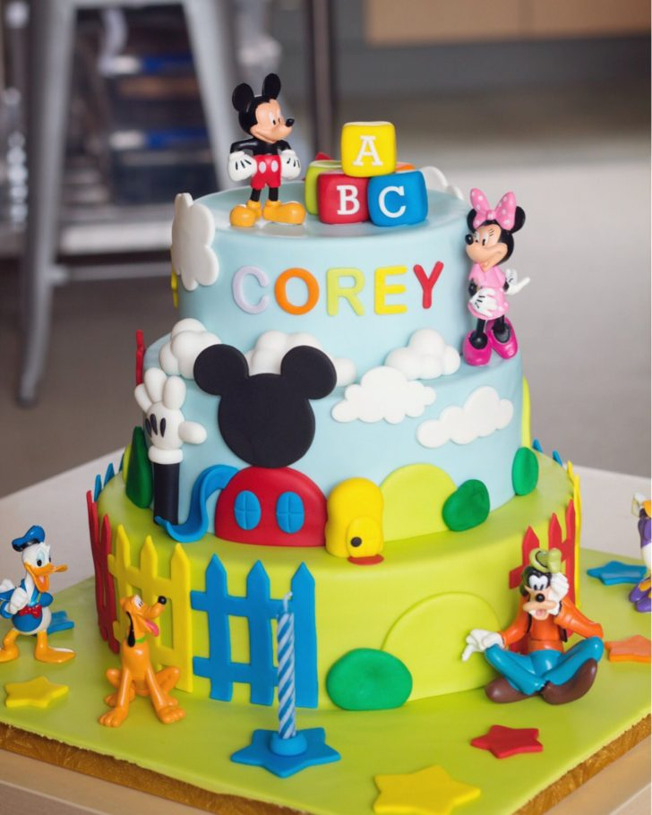 Mickey Mouse Clubhouse Birthday Cakes 3 Tier Cake Year Old Party Pinterest