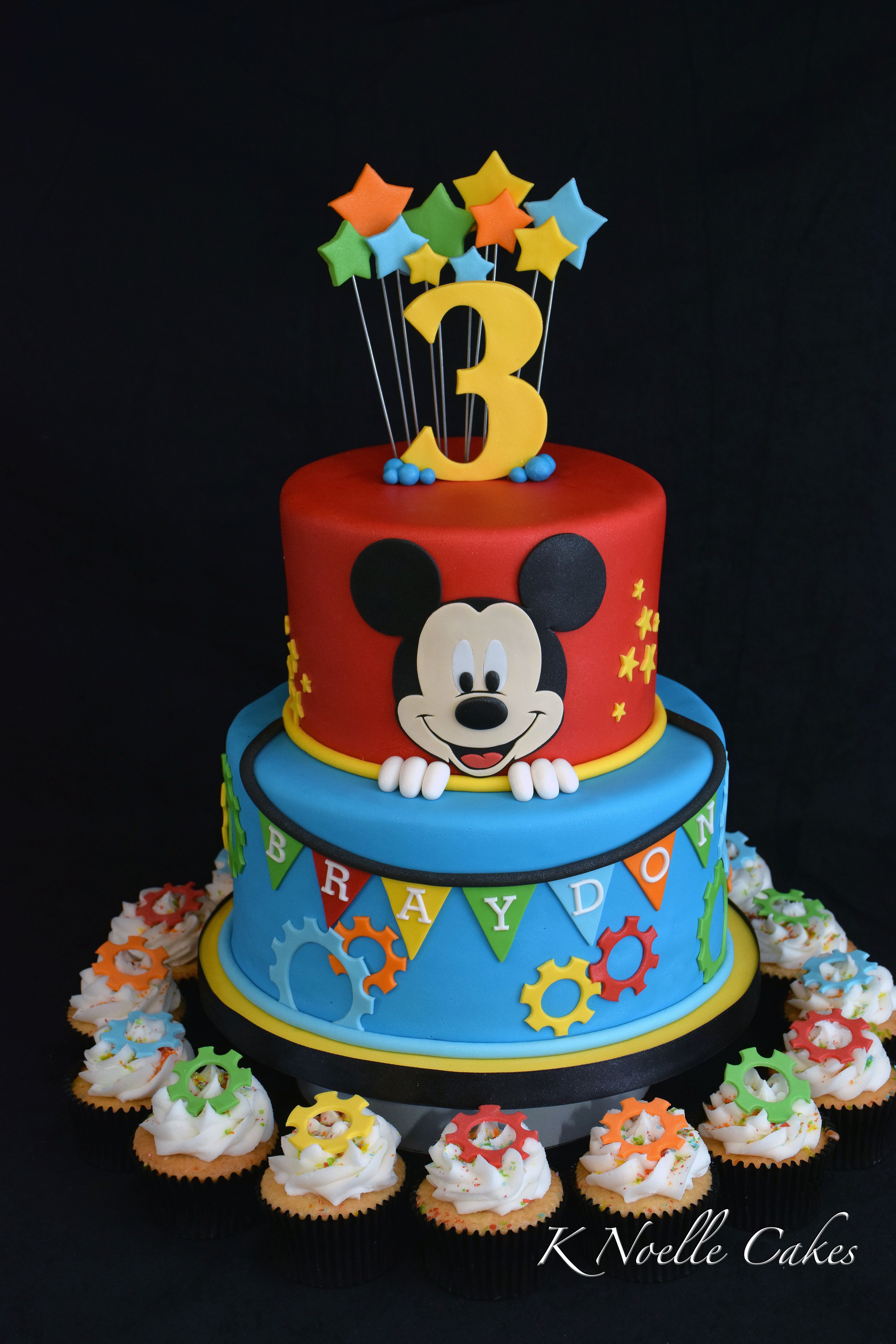 Mickey Mouse Clubhouse Birthday Cakes Mickey Mouse Theme Cake K Noelle Cakes Cakes K Noelle Cakes