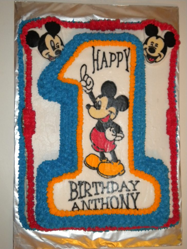 Mickey Mouse First Birthday Cake 3d Mickey Mouse 1st Birthday Cake Erriberricakes