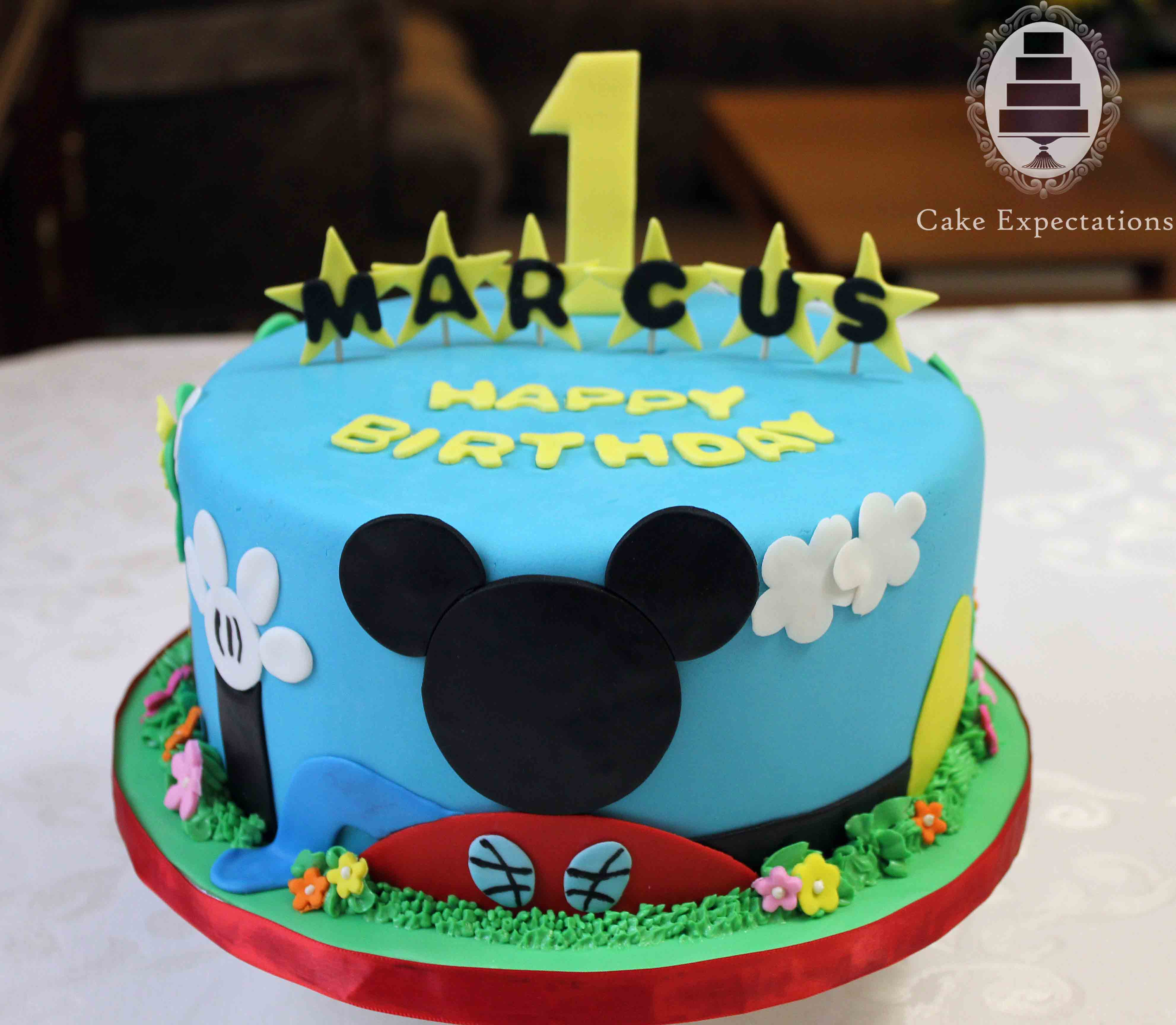 Mickey Mouse First Birthday Cake Cake Expectations Wwwcakeexpectationsca Birthday