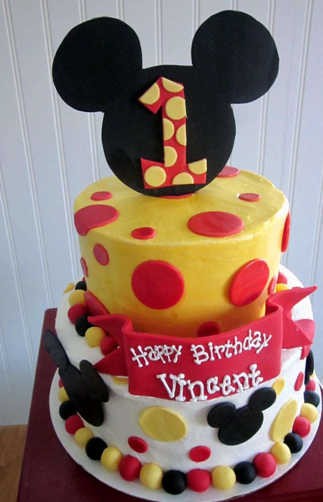 1600 In 32 Awesome Picture Of Mickey Mouse First Birthday Cake