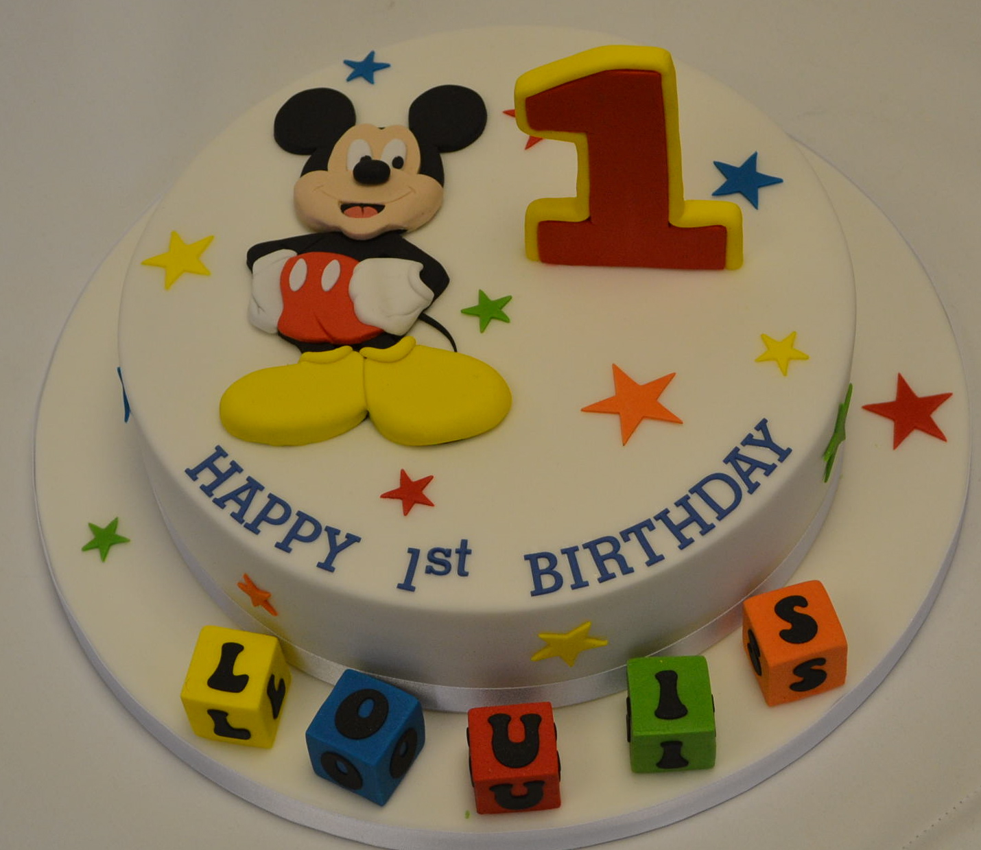 Mickey Mouse First Birthday Cake Mickey Mouse 1st Birthday Cake Celebration Cakes Cakeology
