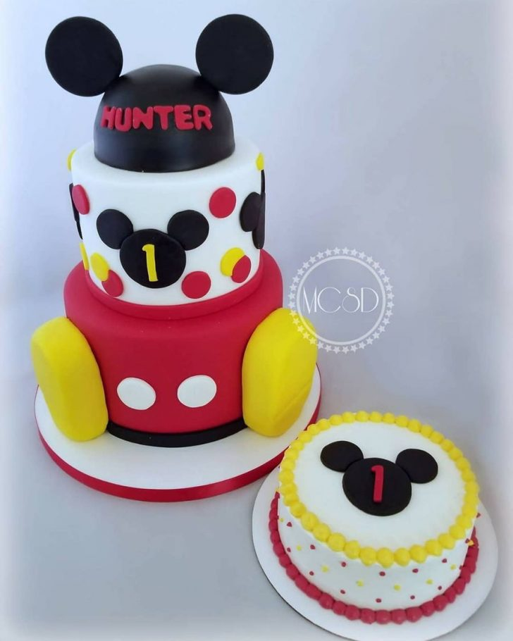 Mickey Mouse First Birthday Cake Mickey Mouse 1st Birthday Cake Smash Cake Cakecentral