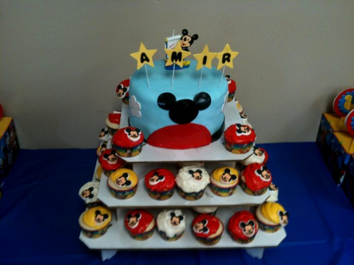 Mickey Mouse First Birthday Cake Mickey Mouse 1st Birthday Cake Topper Ba Mickey Mouse 1st Birthday