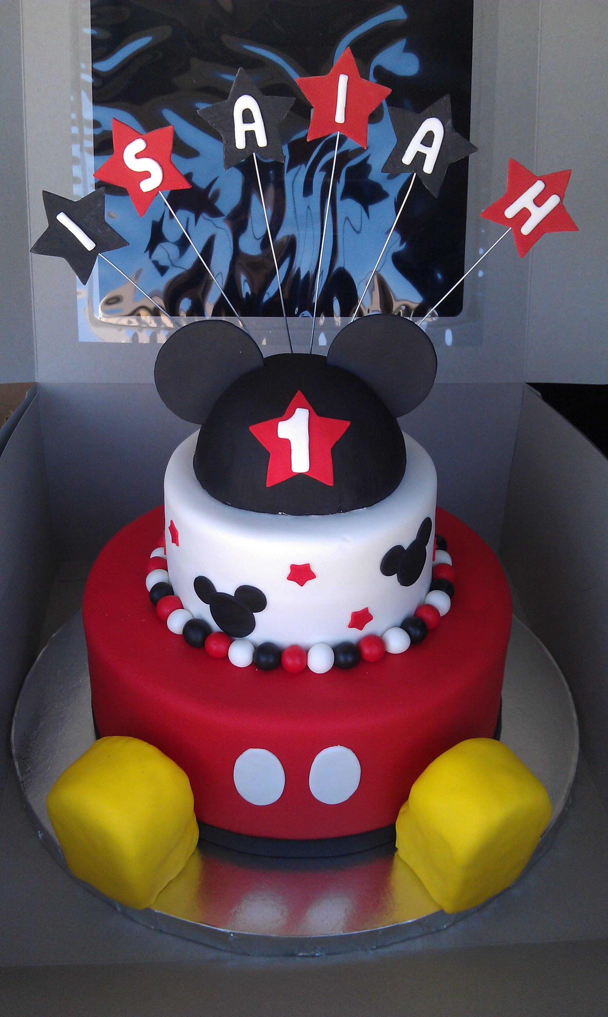 Mickey Mouse First Birthday Cake Mickey Mouse 1st Birthday Cakes With Shoes Mickey Mouse 1st