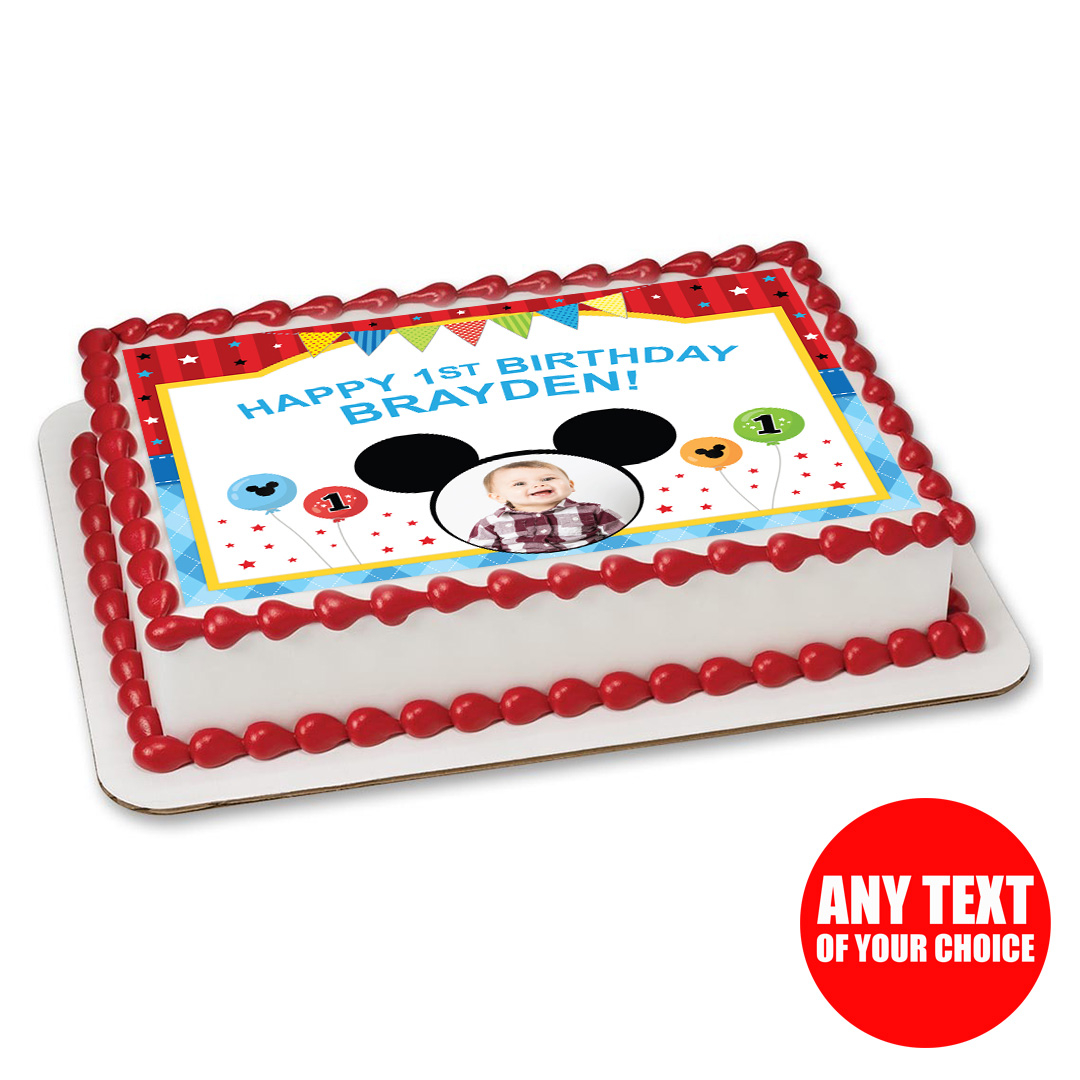 Mickey Mouse First Birthday Cake Mickey Mouse 1st Birthday Party Supplies Party Supplies Canada
