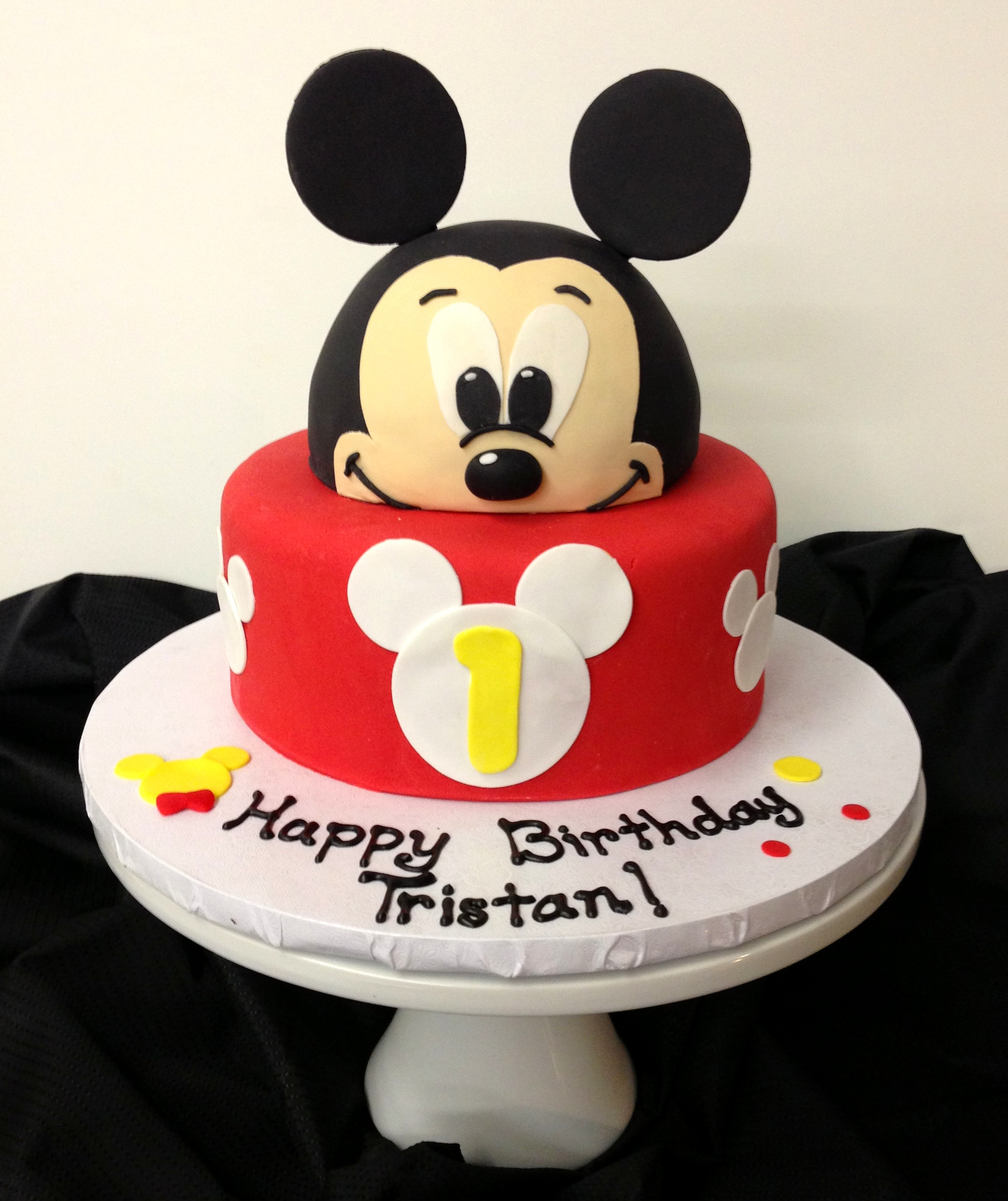 Mickey Mouse First Birthday Cake Mickey Mouse Cake Ba Beas Bakeshop