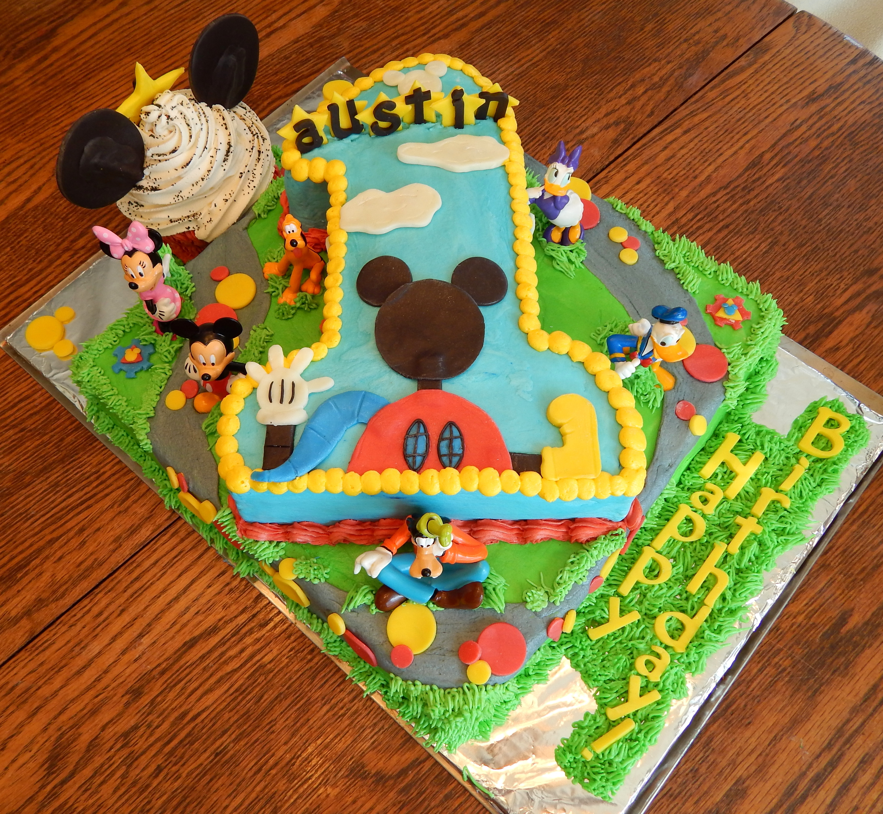 Mickey Mouse First Birthday Cake Mickey Mouse Clubhouse First Birthday Cake Cakecentral