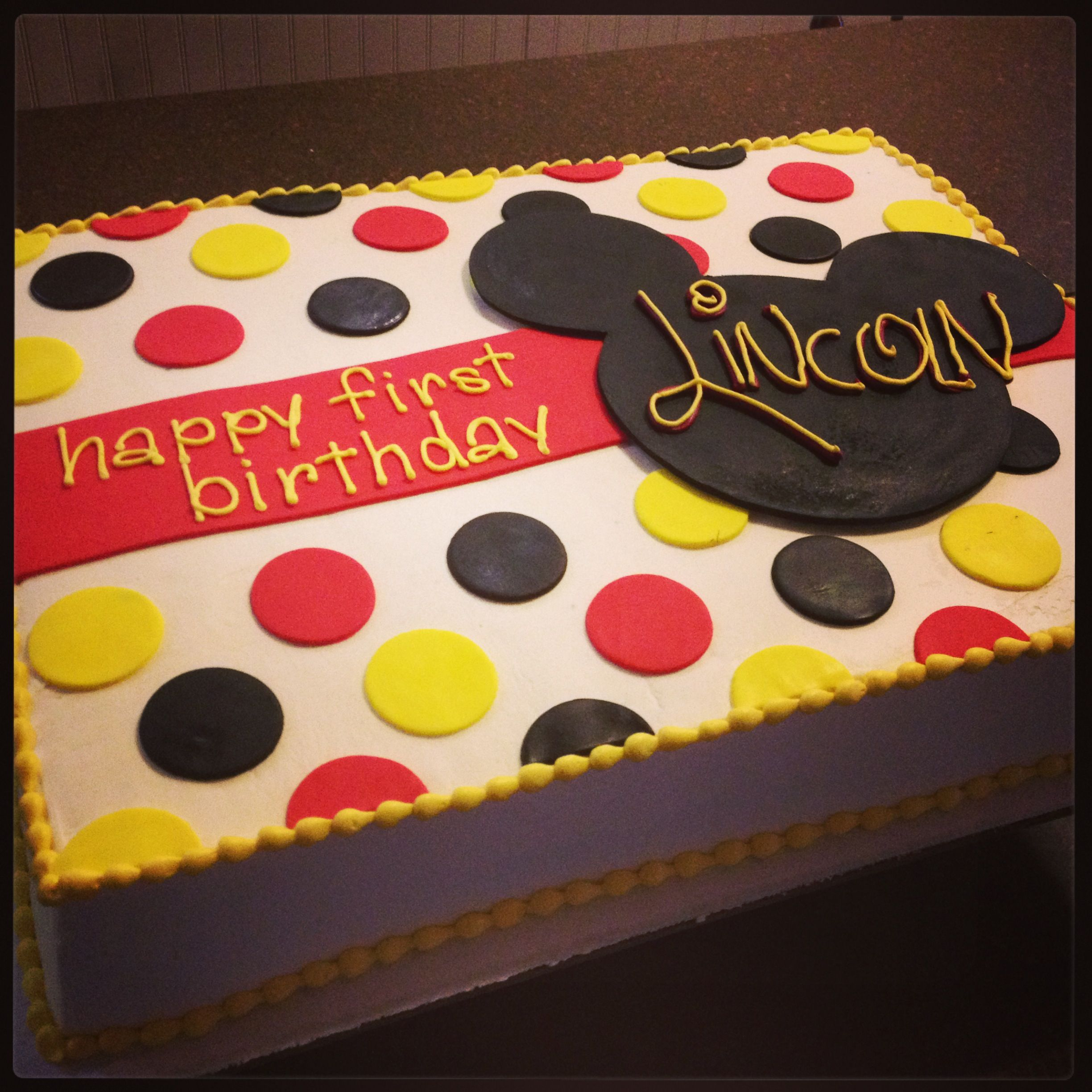 Mickey Mouse First Birthday Cake Mickey Mouse First Birthday Cake Camis Cake Co In Eudora Ks