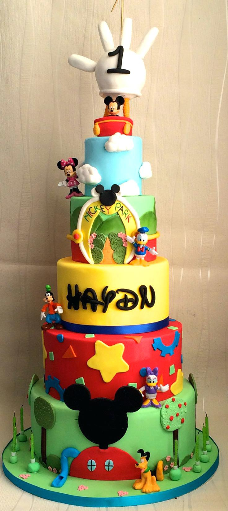 Mickey Mouse First Birthday Cake Ideas S Wondercraftnetworks Published January 6 2019 At 736 X 1650
