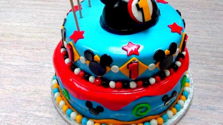 Mickey Mouse First Birthday Cake The Cake Don The Mickey Mouse 1st Birthday Cake Youtube