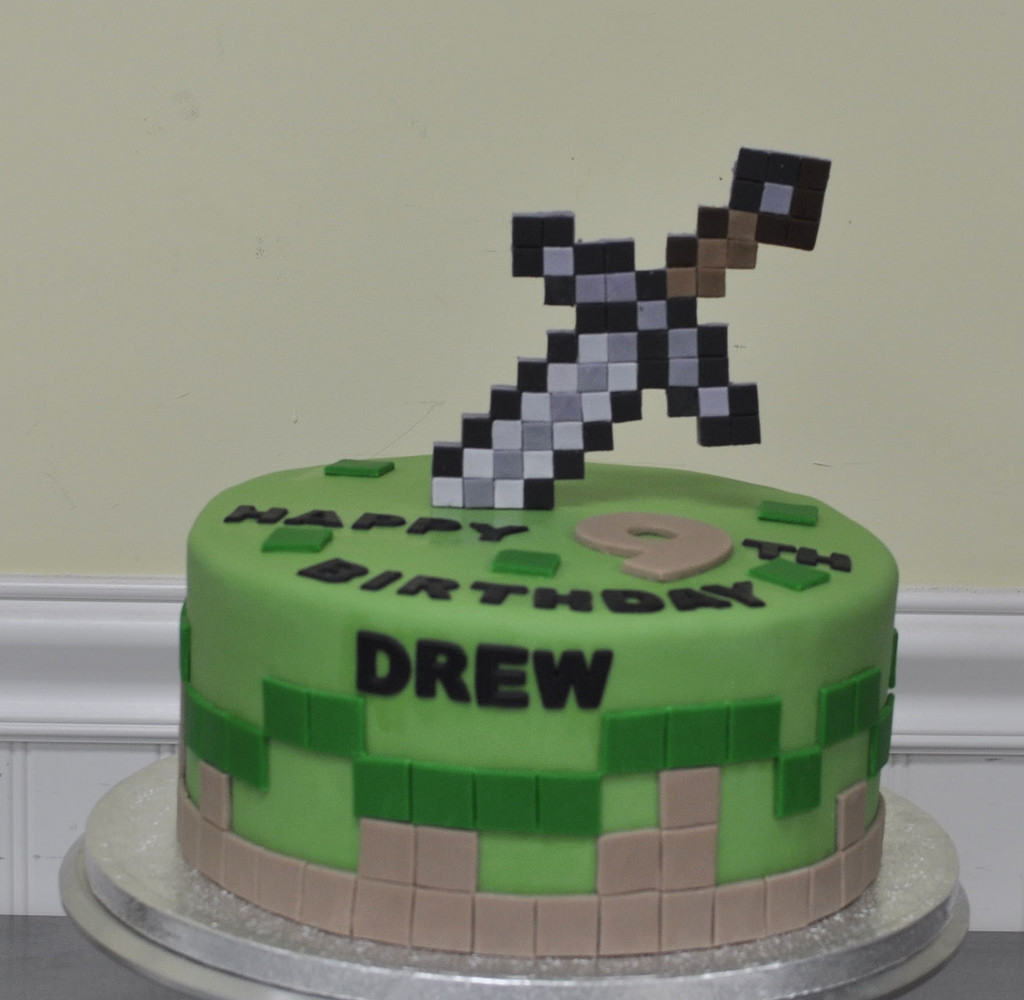 Minecraft Birthday Cake Toppers 16468418645 3e916588eb B Minecraft Sword Cake Topper Rescuedesk