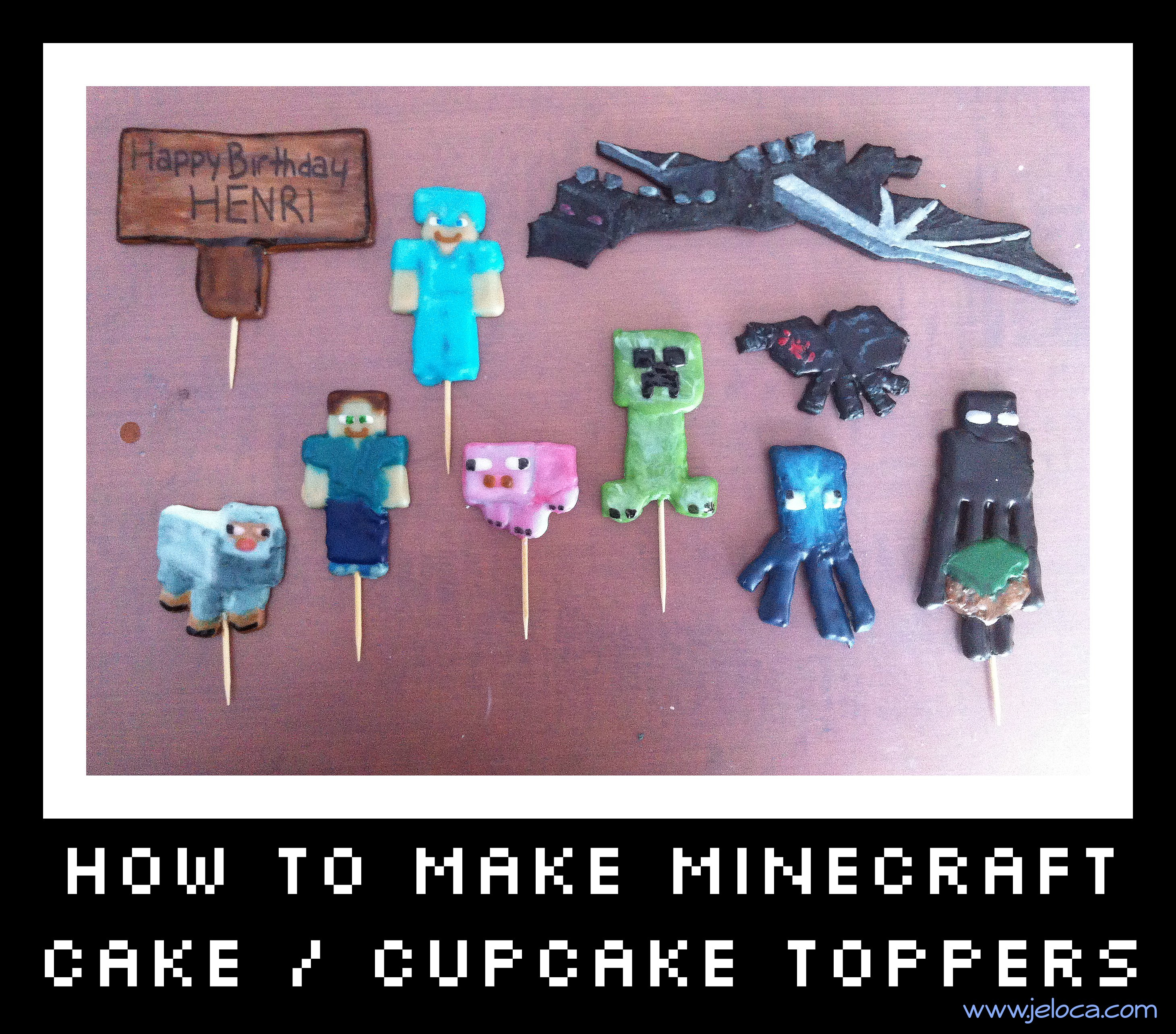 Minecraft Birthday Cake Toppers How To Make Minecraft Cakecupcake Toppers