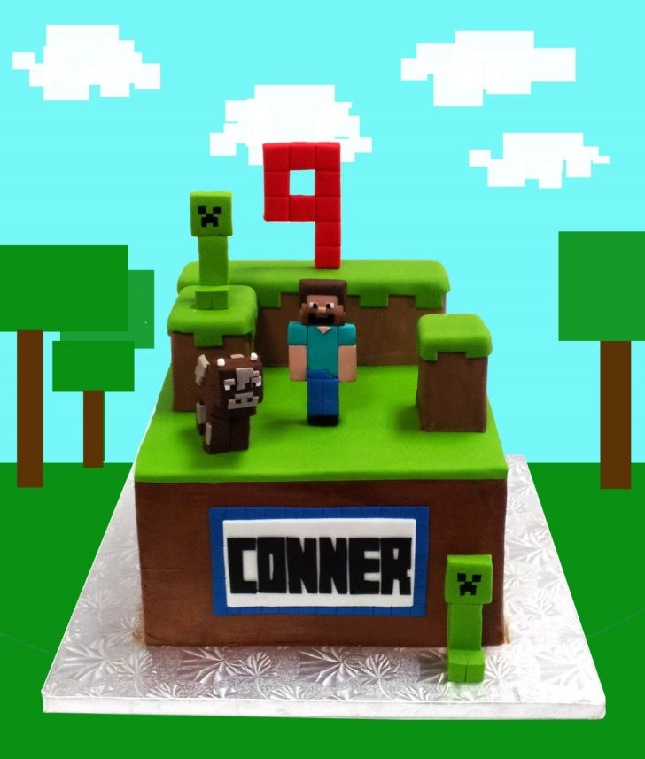 Minecraft Birthday Cake Toppers Minecraft Cake Toppers And Complete Decoration Kit 7000 Via Etsy