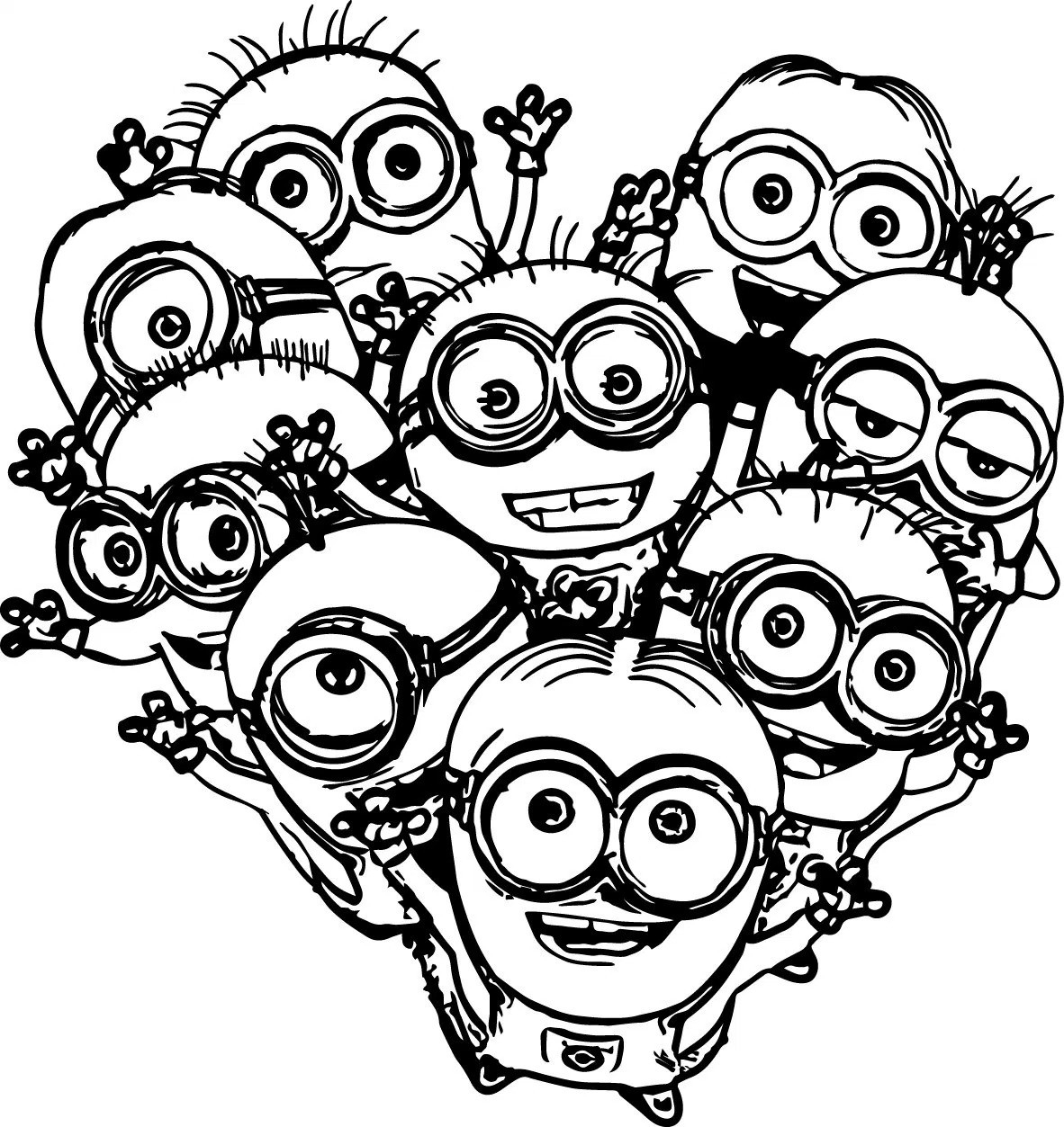 Minions Coloring Pages Batman Minion Coloring Pages Fiscalreform At Minions Plasticulture