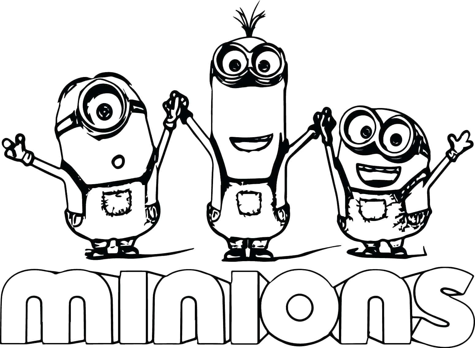 Minions Coloring Pages Cute Bob And Bear Minions Coloring Page Coloring Worksheets