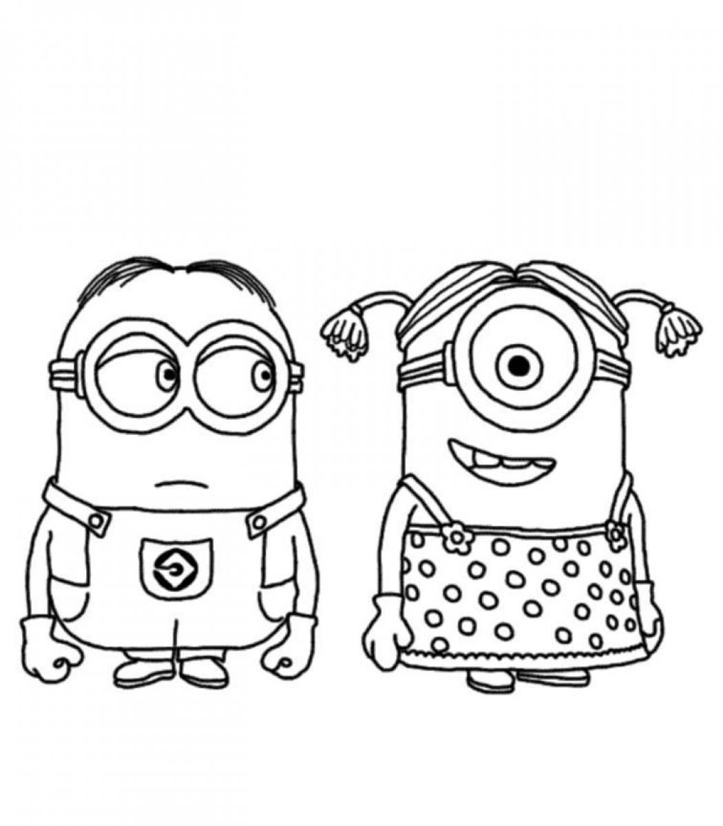 Minions Coloring Pages Minion Coloring Pages Printable Minion Coloring Pages Free Minion